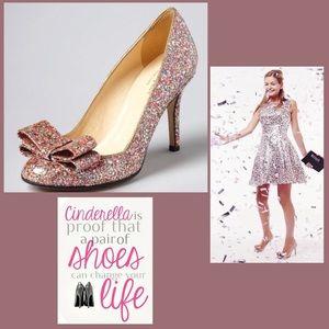 Kate Spade Krysta Glitter Bow 🎀 Heels